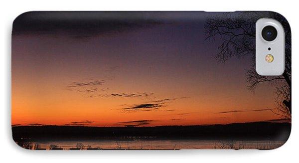 Sunset On The River IPhone Case by Joni Eskridge