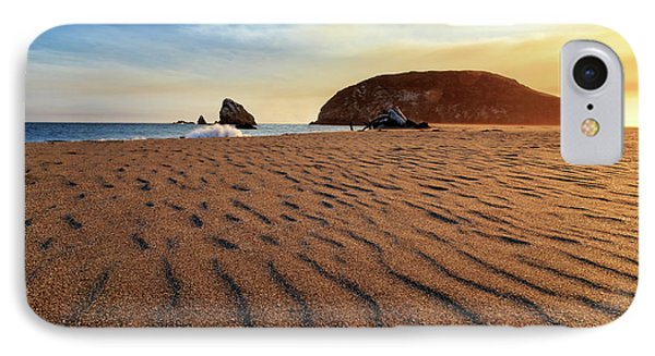 IPhone Case featuring the photograph Sunset On The Sands Of Brookings by James Eddy