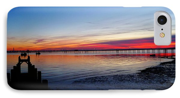 Sunset On The Shore Of Southend IPhone Case