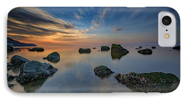 Sunset On The Sound IPhone Case by Rick Berk