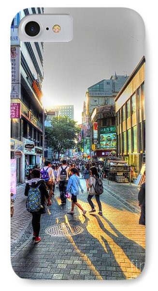 Sunset On The Streets Of Seoul Phone Case by Michael Garyet