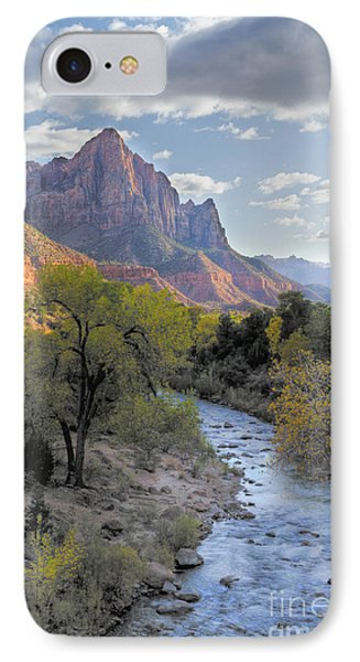 Sunset On The Watchman Phone Case by Sandra Bronstein