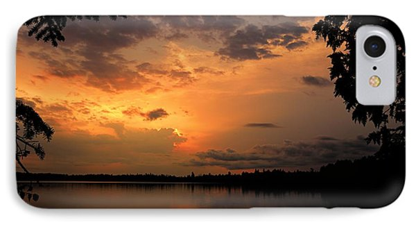 IPhone Case featuring the photograph Sunset On Thomas Lake by Larry Ricker