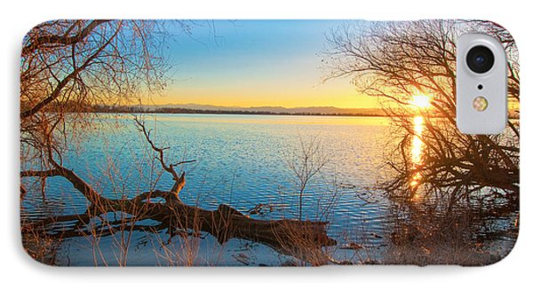 IPhone Case featuring the photograph Sunset Over Barr Lake by Tom Potter