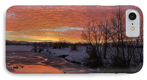 Sunset Over Bountiful Lake IPhone Case by Utah Images