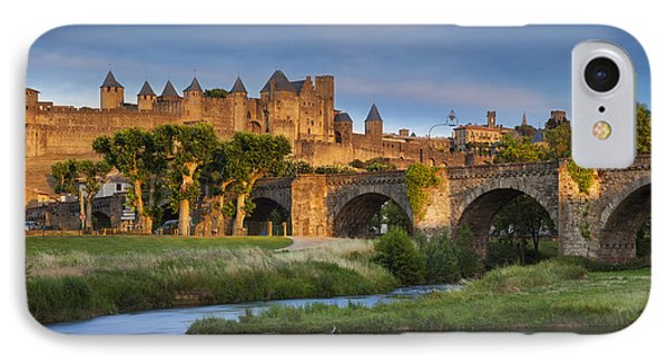 Sunset Over Carcassonne Phone Case by Brian Jannsen