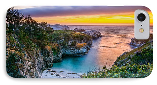 Sunset Over China Cove IPhone Case by David Gilliland