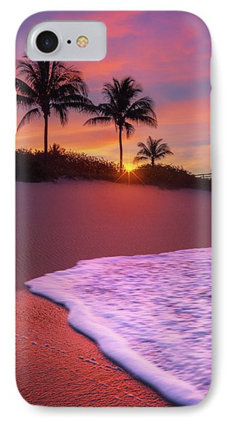 Sunset Over Coral Cove Park In Jupiter, Florida IPhone Case by Justin Kelefas