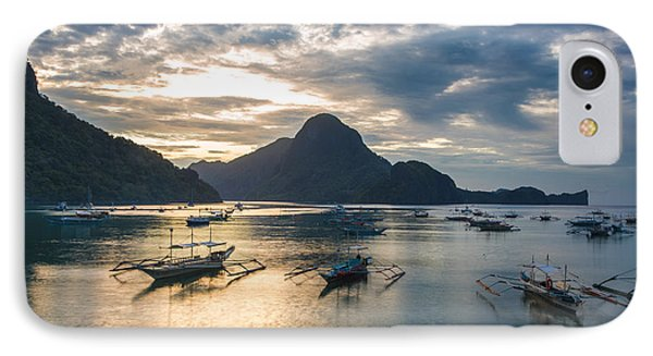 Sunset Over El Nido Bay In Palawan, Philippines IPhone Case
