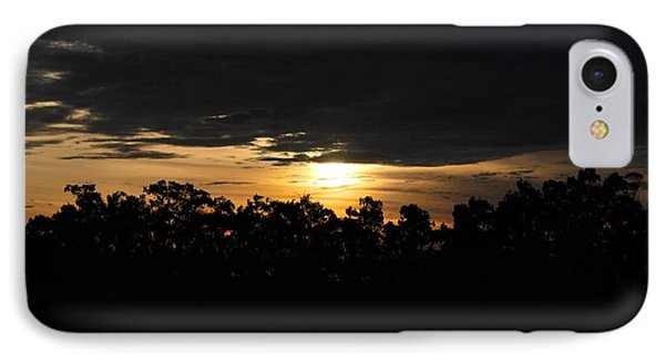 Sunset Over Farm And Trees - Silhouette View  IPhone Case by Matt Harang