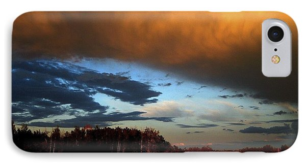 Sunset Over Hayfield IPhone Case by Shirley Sirois