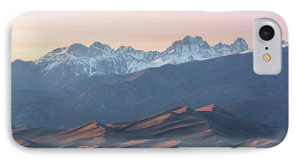 Sunset Over Star Dune And The Crestone Group IPhone Case by Aaron Spong