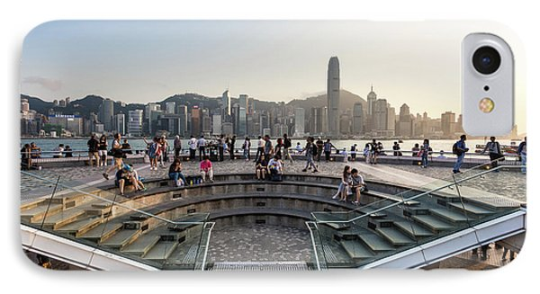 Sunset Over Hong Kong Skyline From Tsim Sha Tsui In Kowloon IPhone Case