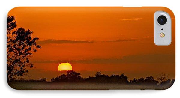 Sunset Over Horicon Marsh Phone Case by Steve Gadomski