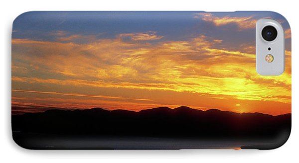 Sunset Over Lake Champlain From Mount Philo Phone Case by John Burk