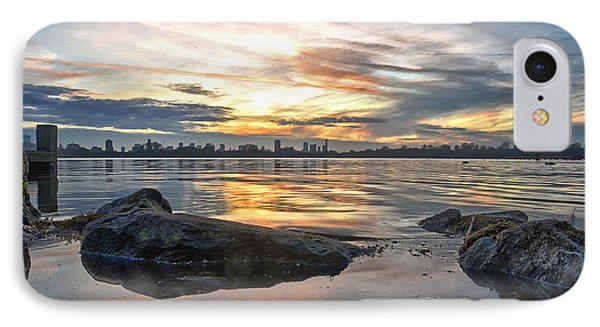IPhone Case featuring the photograph Sunset Over Lake Kralingen  by Frans Blok