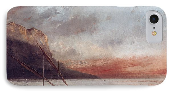 Sunset Over Lake Leman IPhone Case
