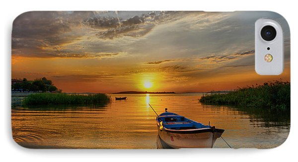 Sunset Over Lake IPhone Case by Lilia D