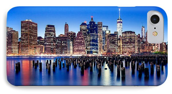 Sunset Over Manhattan Poster Print IPhone Case