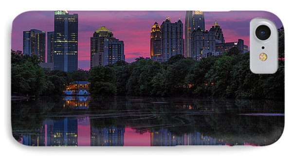 Sunset Over Midtown Phone Case by Doug Sturgess