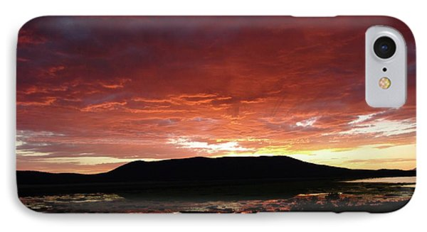IPhone Case featuring the painting Sunset Over Mormon Lake by Dennis Ciscel