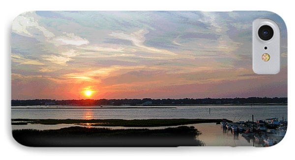 Sunset Over Murrells Inlet II Phone Case by Suzanne Gaff