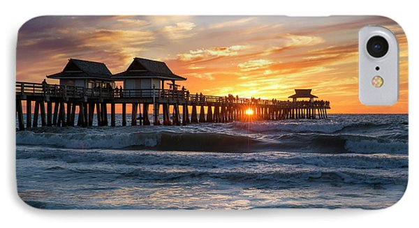 IPhone Case featuring the photograph Sunset Over Naples Pier by Brian Jannsen