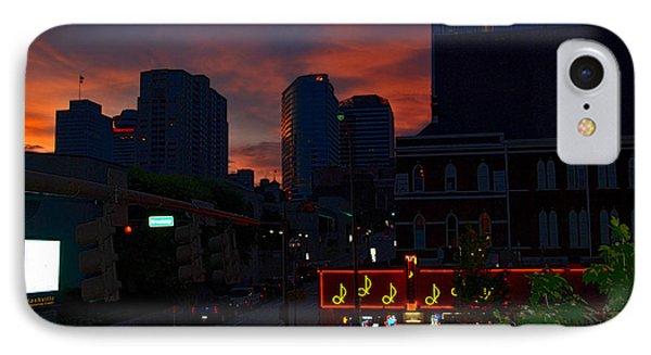 Sunset Over Nashville Phone Case by Susanne Van Hulst