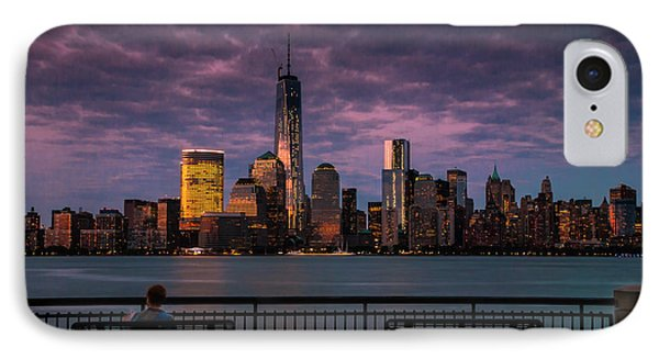 IPhone Case featuring the photograph Sunset Over New World Trade Center New York City by Ranjay Mitra