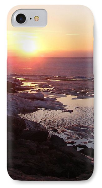 Sunset Over Oneida Lake - Vertical IPhone Case by Lori Kingston
