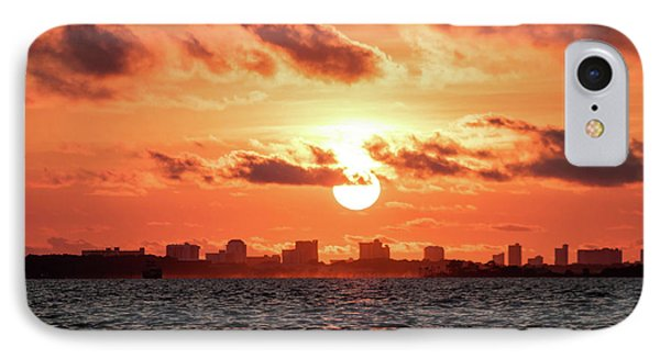 Sunset Over Panama City Beach IPhone Case by Debra Forand