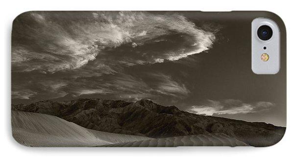Sunset Over Sand Dunes Death Valley Phone Case by Steve Gadomski