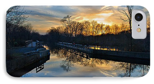 Sunset Over Scudders Mill Aqueduct IPhone Case