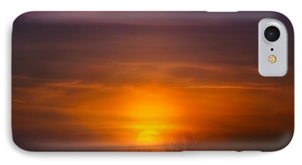 Sunset Over Scuppernong Springs IPhone Case
