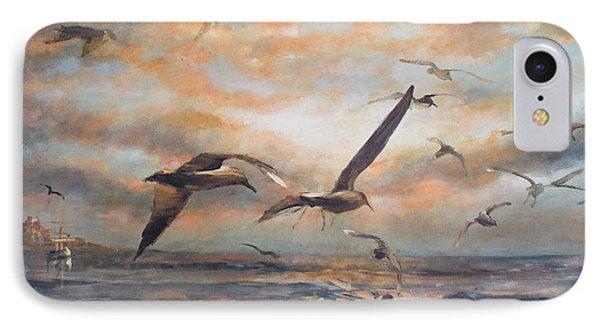 Sunset Over The Sea IPhone Case by Vali Irina Ciobanu