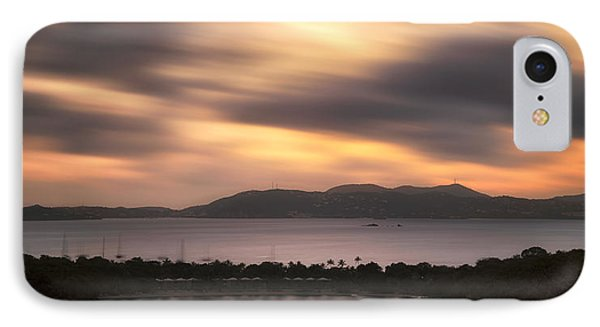 IPhone Case featuring the photograph Sunset Over St. John And St. Thomas Panoramic by Adam Romanowicz
