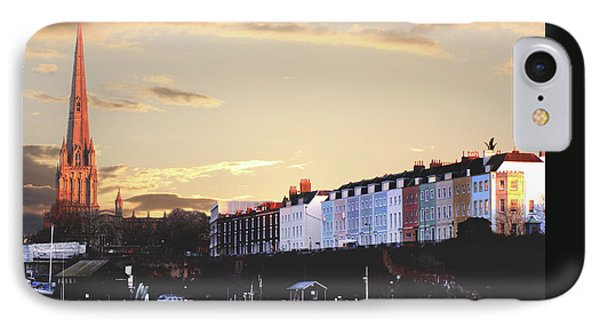 IPhone Case featuring the photograph Sunset Over St Mary Redcliffe Bristol by Terri Waters