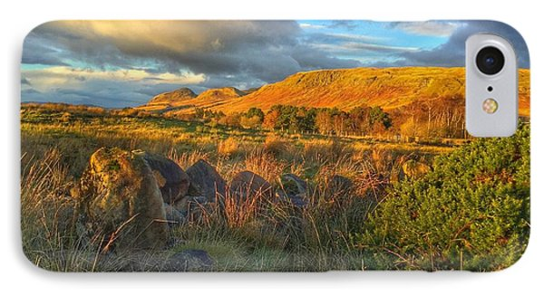 IPhone Case featuring the photograph Sunset Over The Campsie Fells by RKAB Works