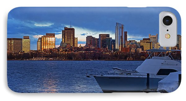 Sunset Over The Charles River Boston Ma Golden IPhone Case by Toby McGuire