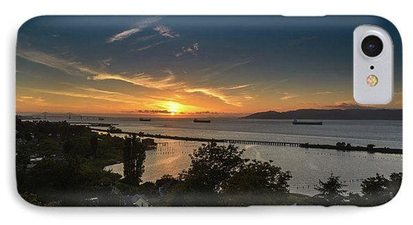 Sunset Over The Columbia River Phone Case by Joe Hudspeth