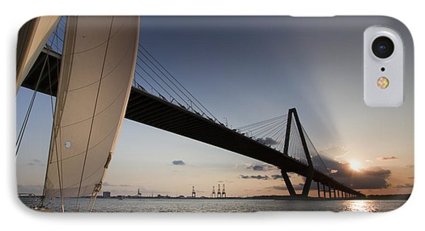 Sunset Over The Cooper River Bridge Charleston Sc IPhone Case
