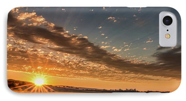 IPhone Case featuring the photograph Sunset Over The Golden Meadow by Don Schwartz
