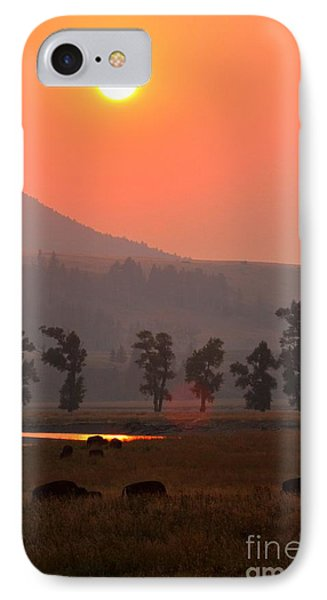 Sunset Over The Herd IPhone Case by Adam Jewell