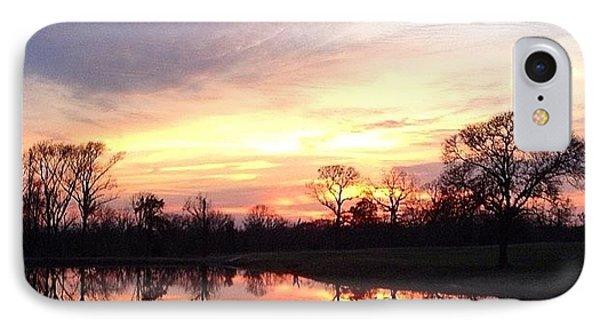 Sunset On The Lake Phone Case by Jen McKnight