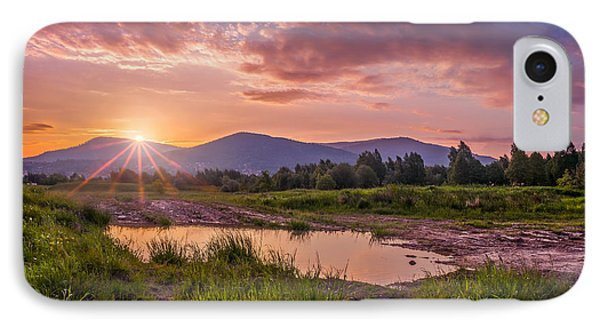 Sunrise Over The Little Beskids IPhone Case by Dmytro Korol
