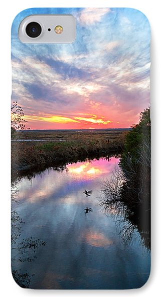 Sunset Over The Marsh Phone Case by Christopher Holmes