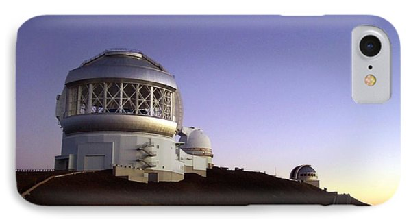 Sunset Over The Mauna Kea Observatories On Kona IPhone Case