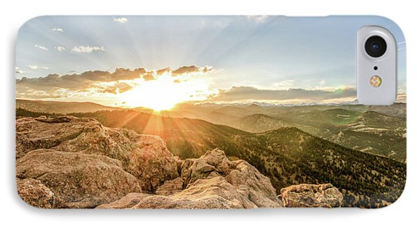 IPhone Case featuring the photograph Sunset Over The Mountains Of Flaggstaff Road In Boulder, Colorad by Peter Ciro