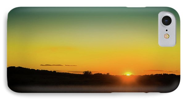 Sunlight iPhone 7 Case - Sunset Over The Prairie by Scott Norris