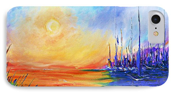 IPhone Case featuring the painting Sunset Over The Sea by AmaS Art